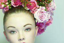 Cheveux Fleurs-Flowers Hair / Coloration-Haircolor-Coiffure-Fleurs