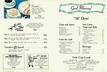 29 Diner Menu / The famous 29 Diner menu