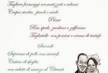 Caricatura Sposi / Idea regalo, caricatura matrimoni, partecipazioni con caricature, menù con caricature.
