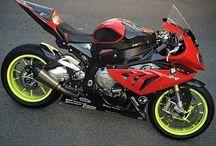 motor bikes on road
