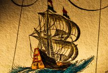 Travel: Boats, Ships & Maps / As a child, I shared a memory: I was on a wooden boat. It was dark and all the women and children were told to keep quiet. We were in enemy territory. My mother told me it must've been a dream. But I knew it was real. The ship was a galleon trader and we were in pirate waters..... / by Vidda Chan