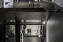 Grey black interior