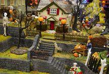 Spooky Village Displays