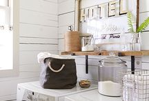 Laundry Room Inspiration / Inspiring Modern Farmhouse Laundry Room Decor and Laundry Room Ideas