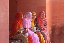 Ethnic pink tones