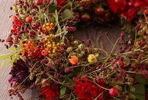 Herbstliches & mehr ... / Dekoration in der Ausstellung; saisonale Dekorationen; Naturdekorationen; Dekorationen themenbezogen u.W.