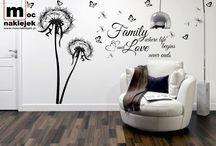 design / dandelion sticker on the wall