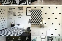 Monochrome black and white baby nursery and inspo