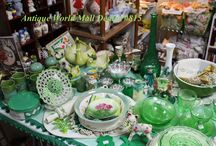 Treasured Collectibles / antique toasters, ceramics, vinyl, glassware, silverware, military, salt/pepper shakers, Fiesta, Hull, Roseville, and so much more......