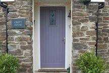 front doors, greys