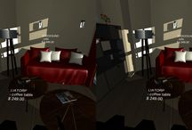 "Morfea Creations-VR Platform Engine (Downtown Chicago Apartment) / Downtown Chicago Apartment   Virtual Reality Mobile Engine   ""Virtual Price Tag"" Function  A flexible way for furniture companies to exhibit inventory in a virtual space"