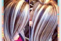 with dark brown hair, medium mocha lowlights, and light mocha blonde ...
