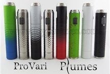 APVs (Advanced Personal Vaporizers) / APVs are variable voltage/wattage devices that are external battery powered.
