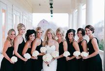 Bridesmaids & Feminine: Black / Black bridesmaid dress.  #wedding #bridesmaid #bridesmaiddress #blackbridesmaiddress