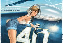 Aviation pin up art/girls