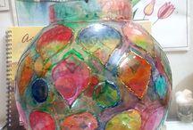 Glass painting by Pooja Raikwar