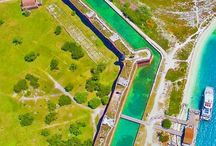 Fort Jefferson in Dry Tortuges National Park, Florida. #HeathrowGatwickCars.com easy way to transfer between London Airport