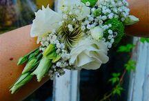 Kwiaty na rękę- bransoletki