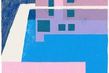 favorite colors / color block, lovely color contrasts