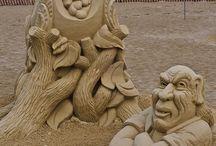 Γλυπτά. από. άμμο