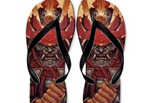 Cool summer flip flops / Summer flip flops for adults. The coolest designs. This online store has over 25 cool flip flop designs