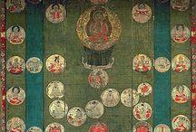 star mandala / 星曼荼羅 北斗曼荼羅 Star (Hoshi) Mandala composed of astrological symbols and deities