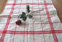 HarmonicStyle / antique linen, homespun linen, pure flax linen, vintage linen, hand embroidered linen, natural linen,