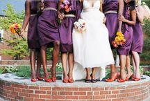 Orange & Purple Wedding