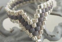 gyöngyfűzés - gyűrű