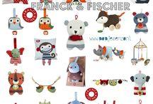 Franck and Fischer kinderspul / Vrolijke en verantwoorde knuffels, kussentjes, muziekdoosjes, trekdieren etc etc van het Deense merk Franck and Fischer.
