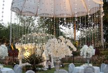 crystals / out door wedding ideas
