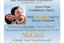 """Hair Restoration Procedure @ El Paso Cosmetic Surgery / Come take advantage of this special """"state-of-the-art"""" equipment!! 25% Discount Hair Restoration Procedure!  Call 915.351.1116 to make a consultation appointment and get you closer to THE HAIR you have always wanted.  Hair Restoration is not just for men...but women too!!!"""