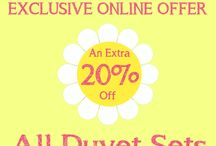 Bank Holiday May Special / 20% off ALL duvet sets