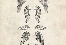 Angel wings tattos
