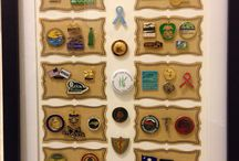 Shadow boxes with pins / Shadow boxes