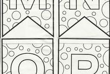 Alfabeto para decoración