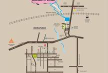 antriksh gold ghaziabad location map