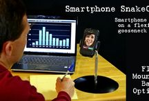 iPhone Smartphone SnakeClamp / A Smartphone stand on a flexible gooseneck arm!