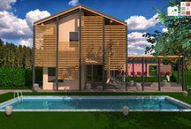 Realizzazioni e cantieri / Villa in fase di realizzazione e certificazione Casa Clima classe A in provincia di Alessandria