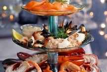 seafood platter presentation