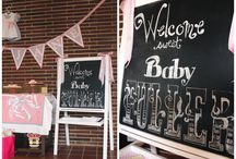 THEME Pink & Gray Baby Shower