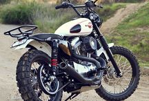 Vtwin Scramblers / Retro bikes made for dirt.