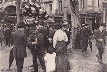 Vintage photos of La Rambla