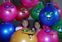 Children's Birthday Party ideas / Children's party ideas, themes, birthdays, summer. Fun, Colorful. Hop Balls