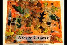 Atividades artisticas com elementos da natureza