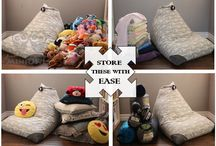bean bag chair - toy storage