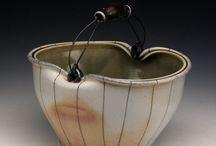 Ceramic bucket & basket.