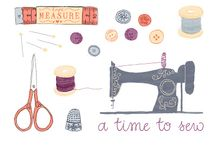 Sewing Art and Illustrations