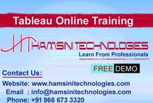 Tableau Online Training / Hamsini Technologies is the largest world premier Online, Classroom & Corporate IT Trainings around the world. We are providing all technologies real time live trainings with real time scenarios by 13+ years industry experienced faculty. And we provide Tableau Online Training with live projects from Hyderabad, India. We give you very clear explanation on each and every topic which you want to learn. We help you to install required software.