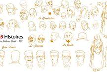 Work In Progress / Evolution du travail de Guillaume Girault pour illustrer les histoires du site www.365histoires.com